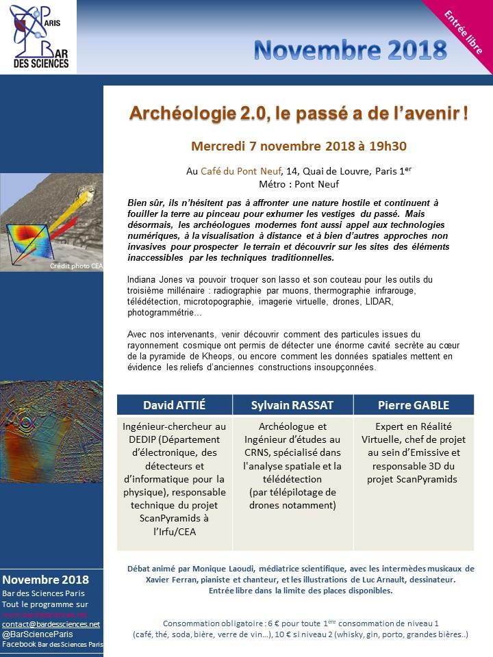 7 novembre 2018 - Archéologie 2.0, le passé a de l'avenir !