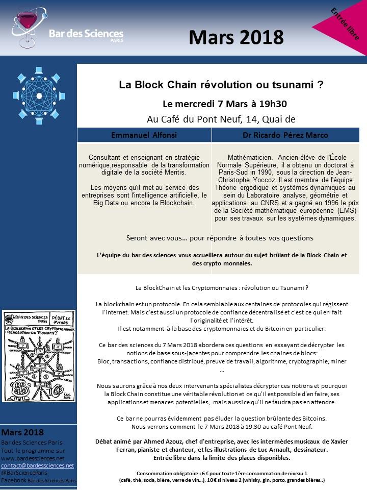 7 Mars 2018 - La Block Chain révolution ou tsunami!