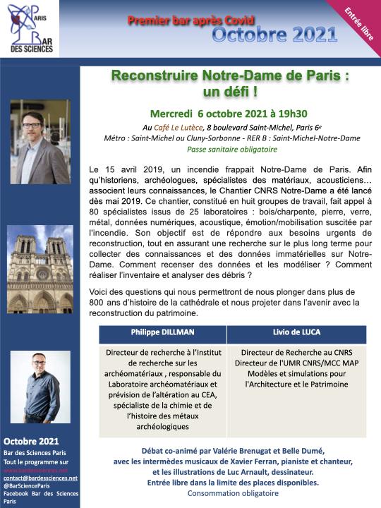 6 Octobre 2021 - 🎉 Premier Bar après covid 🎉 : Notre Dame de Paris ! 🔔